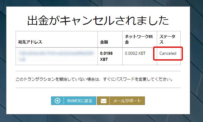 ビットメックスの出金手順その6-2