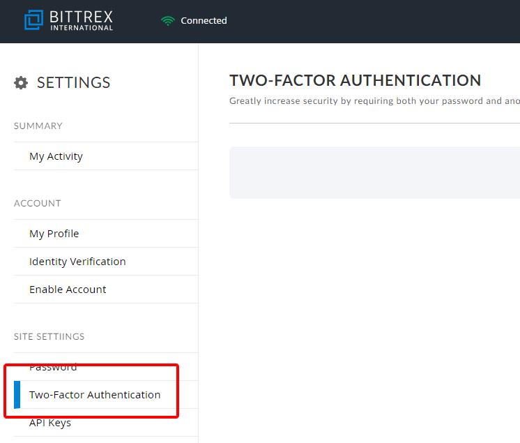 2段階認証の設定その1
