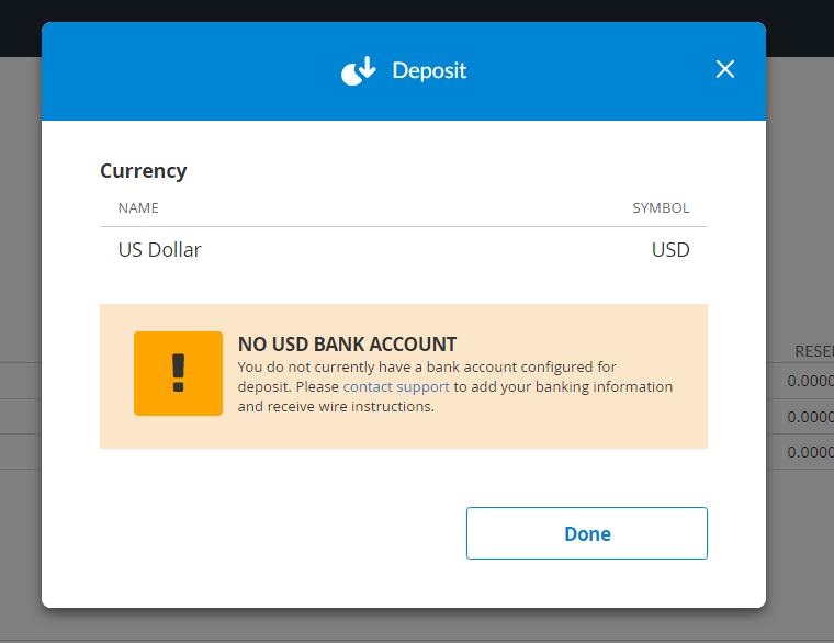 ビットトレックスへは米ドルの入金はできません