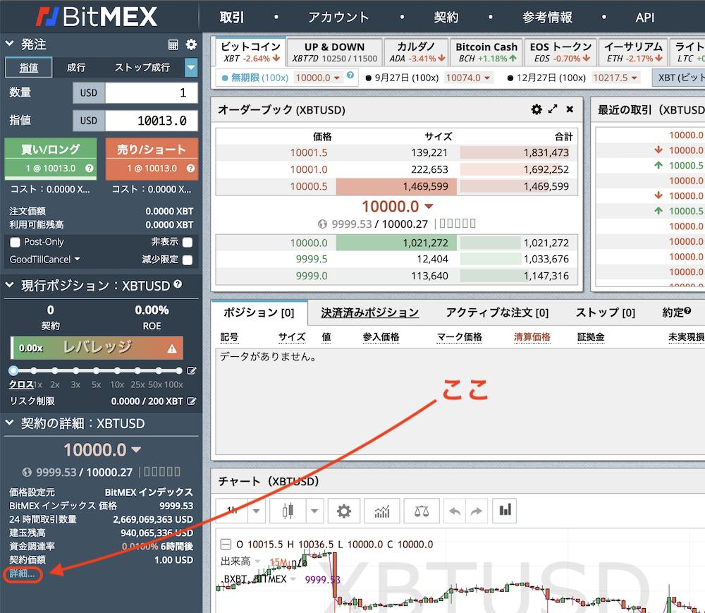 BitMEX-手数料-Funding手数料1